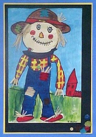 Scarecrow by Holley, grade 2, Crayola DreamMaker winner (Donna Staten)