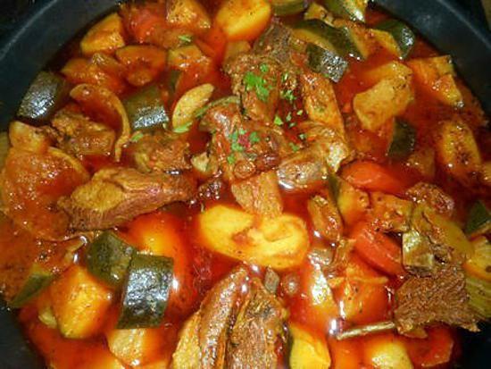 recette Tajine d agneau aux 5 légumes et citrons confits
