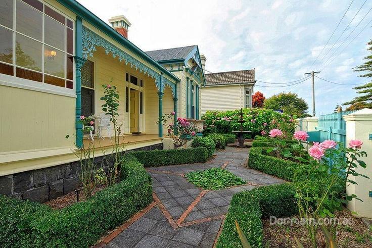 Garden!!! Wow... I like the coloured glass in the verandah