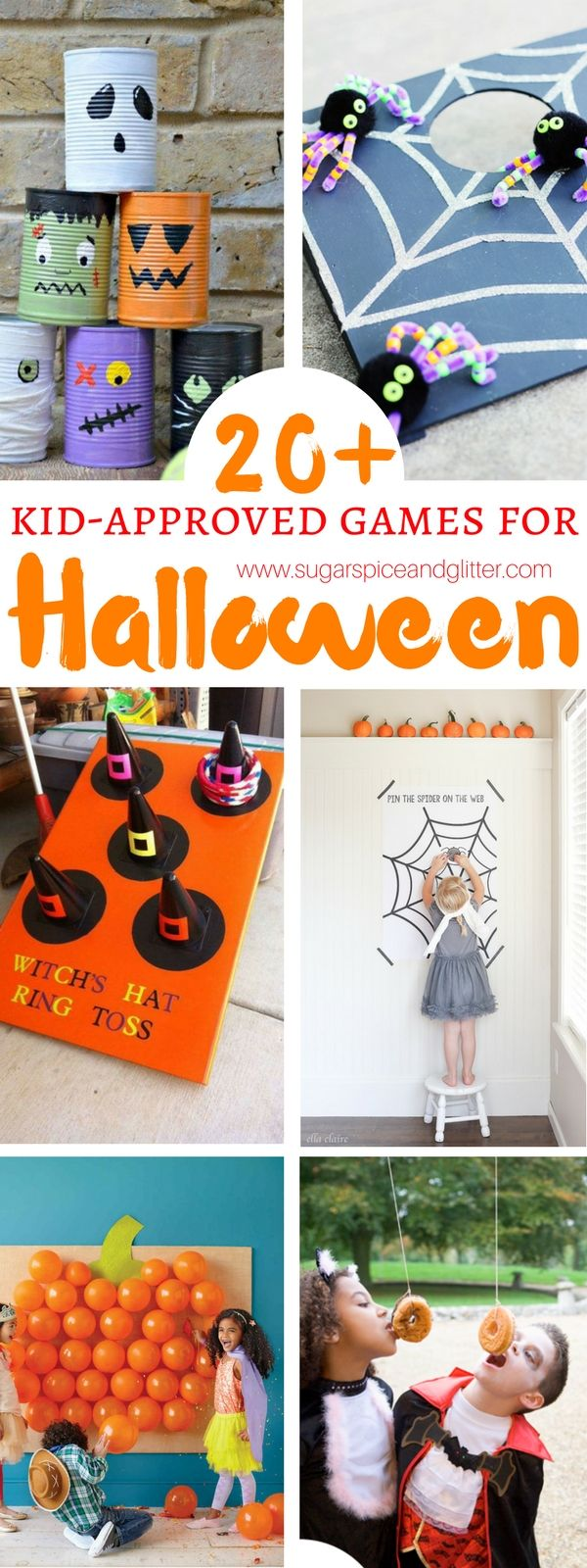20 Kid-approved games for Halloween - all of your Halloween party planning done for you. These games can even be made by kids and would work great indoors or outdoors.