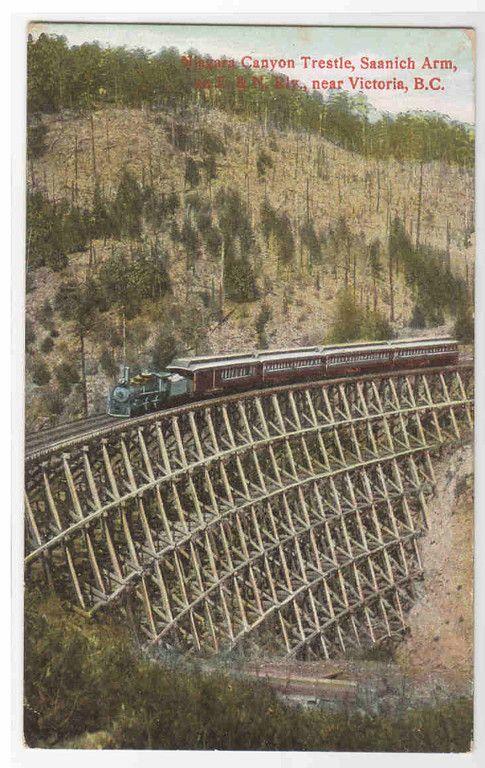 E & N Railroad Train Niagara Canyon Trestle Victoria BC - bidStart (item 36432985 in Postcards... Victoria)