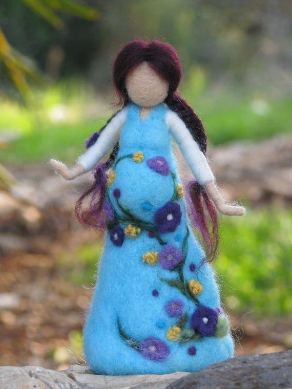 Ser madre... pronto aguja de fieltro muñeca por Made4uByMagic