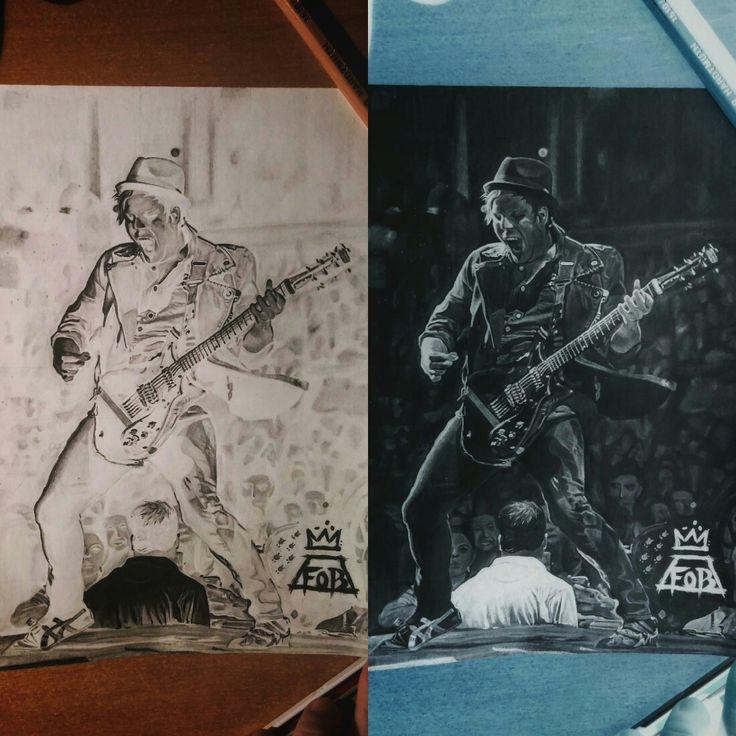 "Patrick Stump ,,negative"" pencil art"