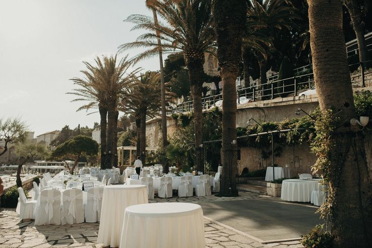 Hotel Excelsior | Dubrovnik | Croatia | Destination Wedding | Terrace | Palm Trees