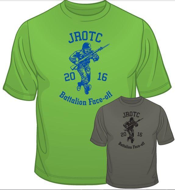 Batallion t shirts for plantation high school jrotc by for Jrotc t shirt designs