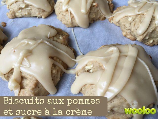Une délicieuse recette de biscuits aux pommes et sucre à la crème