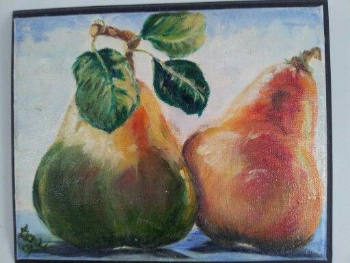 Pears in oils