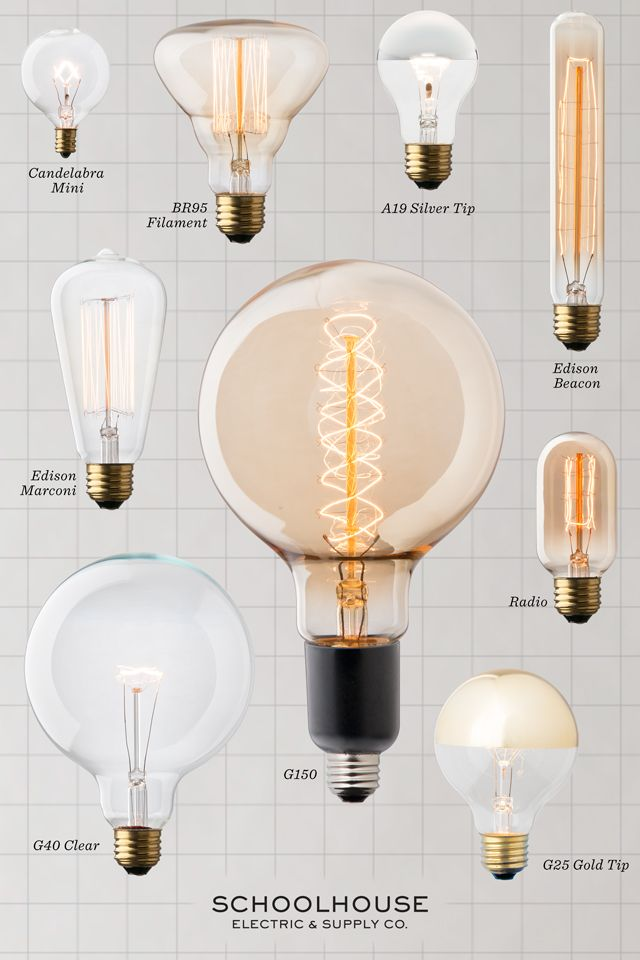 Lightbulb Literacy | Discover more unique lighting options at Schoolhouse Electric Co.