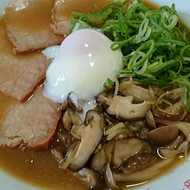 食物繊維たっぷり! 麺類を太りにくくするポイントです♪ - 10件のもぐもぐ - きのこたっぷり!葱チャーシュー麺 by wakasan1935