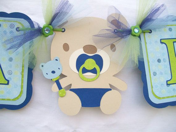 Baby shower bunting ... change up for a girl ...
