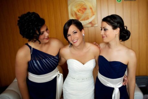 Bride and bridmaid's