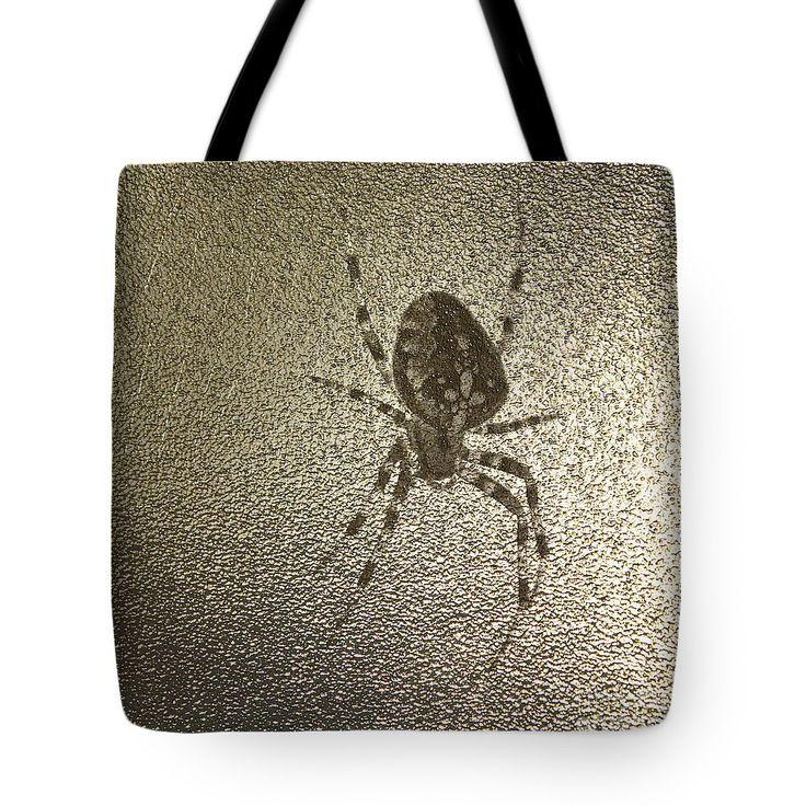 Golden Cross Spider Tote Bag by Sverre Andreas Fekjan.  The tote bag is machine…