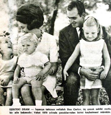OĞUZ TOPOĞLU : ispanya tahtı veliahtı don carlos ve ailesi 1970 h...