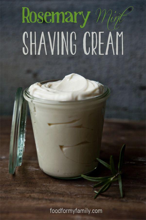 Homemade Rosemary Mint Shaving Cream +25 Fathers Day Gift Ideas   NoBiggie.net