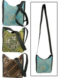 Antique Sari Sling Bag~each unique bag is hand-crafted by a women's cooperative in New Delhi.