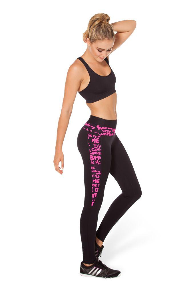 BM-PRO Highlighter Black Ninja Pants - LIMITED by Black Milk Clothing $105AUD