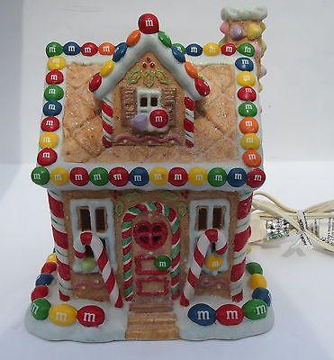 kurt adler christmas light up gingerbread house w mm candy theme - Mm Christmas Lights