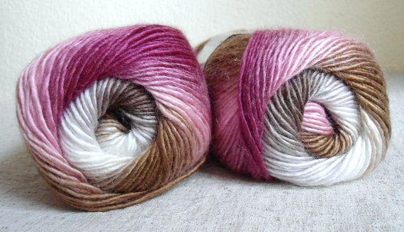 Multicolor yarn  knitting yarn fashion yarn by Yarnshopping