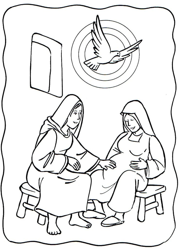 Angel visits mary page preschool coloring pages for Angel visits joseph coloring page