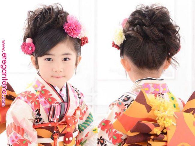 七五三におすすめの髪型ヘアアレンジ定番人気ふわふわアップ7歳3歳向け