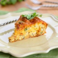 Chicken and Cheese Quesadilla Pie - a quiche/quesadilla for breakfast or dinner. The Girl Who Ate Everything