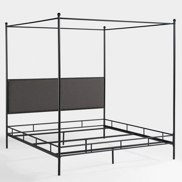 Lauren Grey King-size Metal Canopy Bed