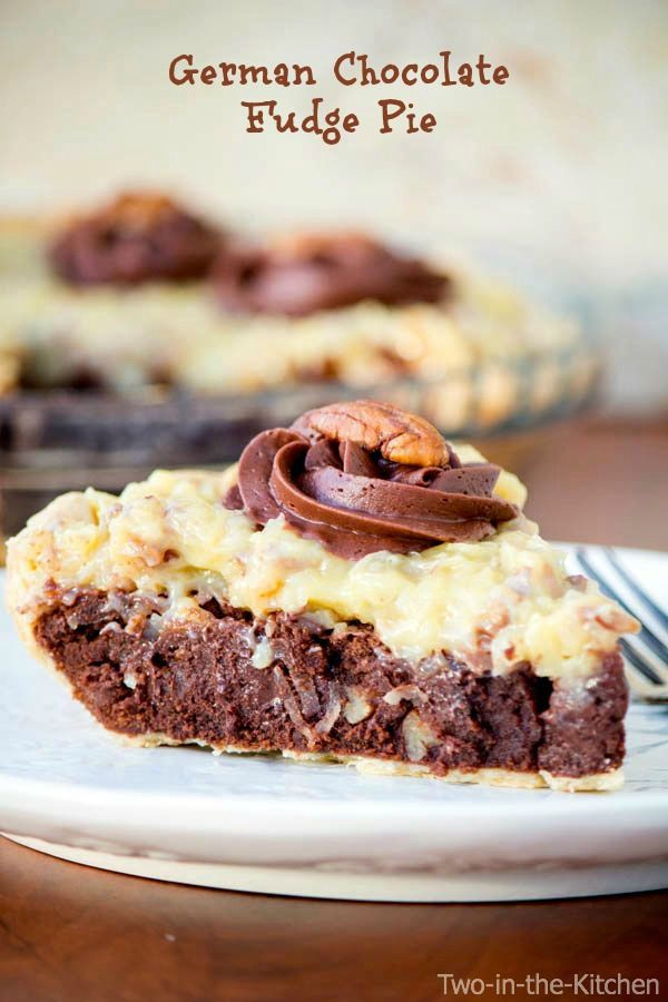 German Chocolate Fudge Pie  Two in the Kitchen v