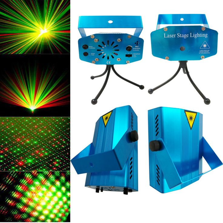 Stage Lighting Effect LED Disco Light Voice Control RGB Laser Landscape Projector Light Party KTV Bar DJ with Tripod EU US PLUG #Affiliate