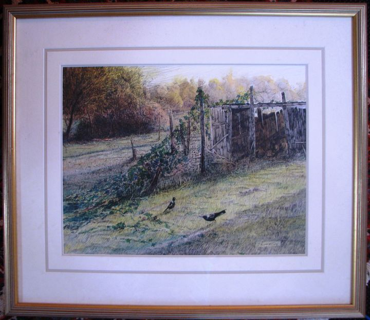 Patrick Shirvington watercolour titled  Afternoon Play