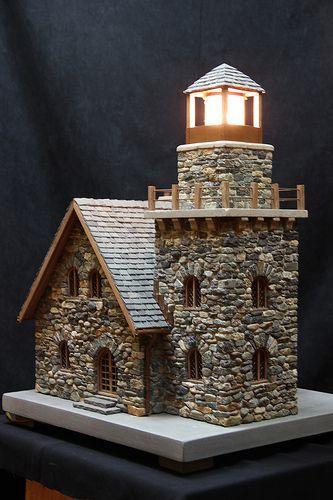 Miniatur Stein Leuchttürme