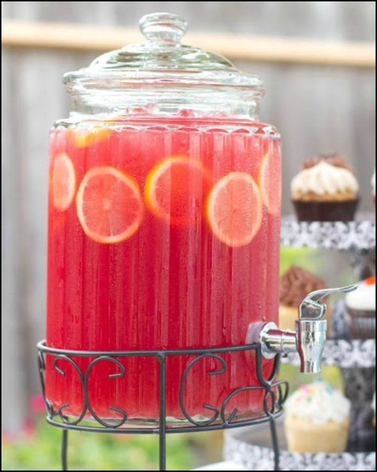 Pink Lemonade Sparkling Fruit Punch  http://food.ideas2live4.com/recipe/pink-lemonade-sparkling-fruit-punch/  A refreshing drink that's sweet and sparkly, with just the right amount of tartness for a little kick!  Great alternative for kids addicted to soda pop ;)