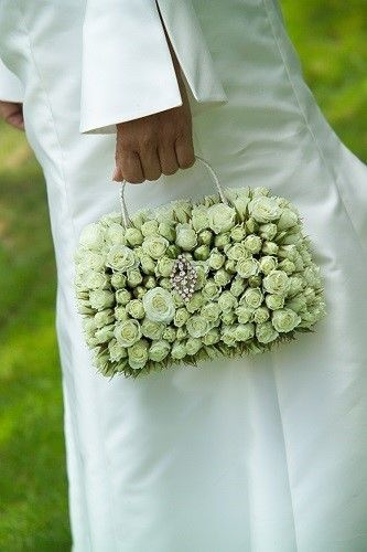 Classic cream Wedding Flower handbag