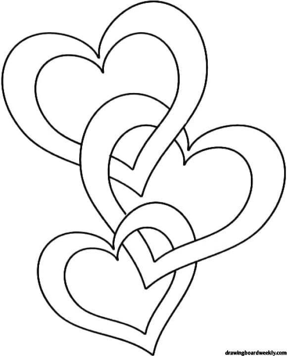 Coloring Page Of A Heart Printable In 2020 Valentine Coloring Pages