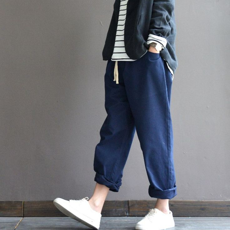Loose cotton slacks turnip pants   #pants #loosepants #linendress #linen #dress #turnip