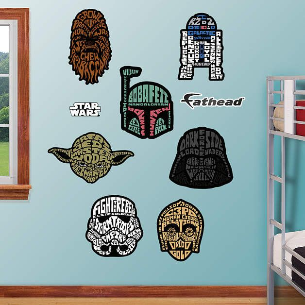 Fathead Star Wars Typography Collection Decals   Wall Sticker Outlet