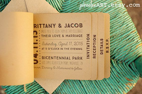 Stand out from others with this booklet style printable wedding invitation. Your guests will surely be wowed by the fun whimsy layout and unique booklet. The printable invitation comes with the Cover, Invitation and RSVP designs. The text is fully customized along with the colors. The standard colors are brown and teal. Print on kraft paper for a more rustic feel or print on white paper for a classic minimalist look. This is a very versatile invitation that can fit many style weddings. Add…