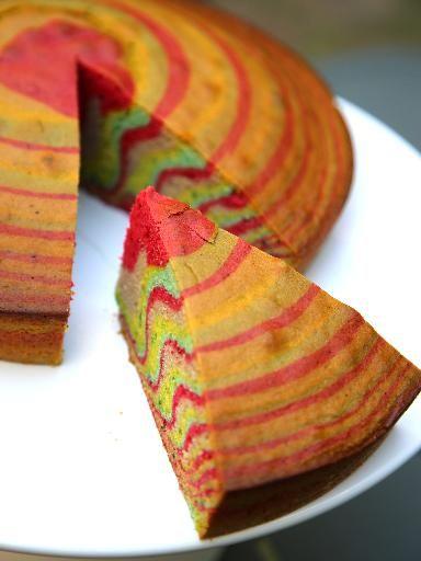 Gâteau arc-en-ciel - Recette de cuisine Marmiton : une recette