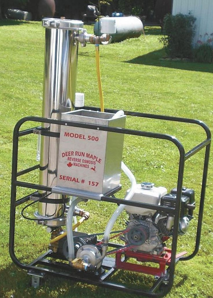 Farm show portable reverse osmosis units speed up maple