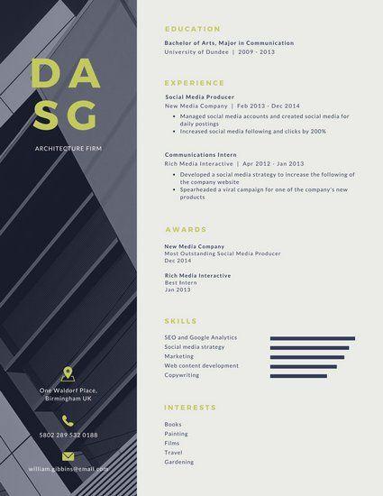 Best  Resume Architecture Ideas On   Architectural Cv