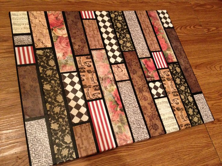 Best 25+ Scrapbook paper canvas ideas on Pinterest