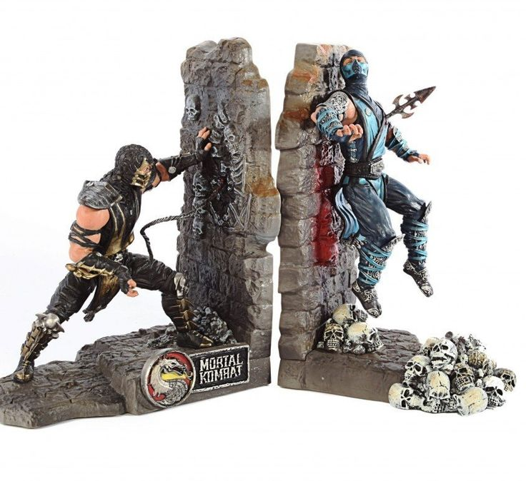 ChiLL this out … Awesome CooL Gift ideas for Gamers … Gifts for Geek Men & Women -Mortal Kombat Scorpion & Sub Zero bookends - Games CooL Collectibles ...