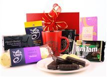 Tea For Two. Tea and tasty treats along with a Kiwiana tea towel and super mugs to keep forever. AU$59.92 w/ free delivery to NZ
