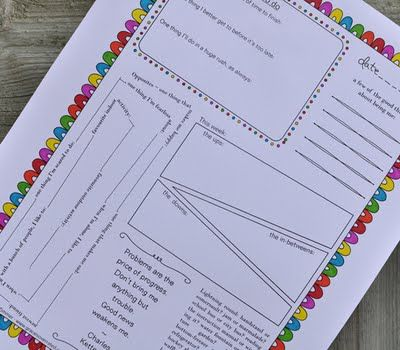 Remember these journal pages. Will print when I find room for a binder!