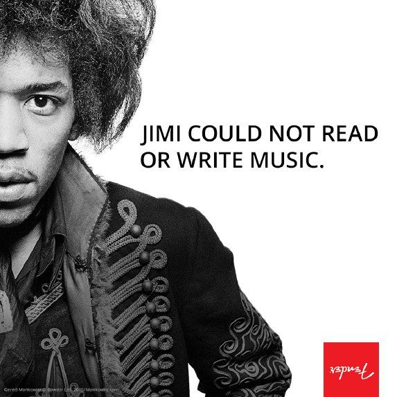 Did you know? Jimi Hendrix could not read or write music. #MotivationMonday