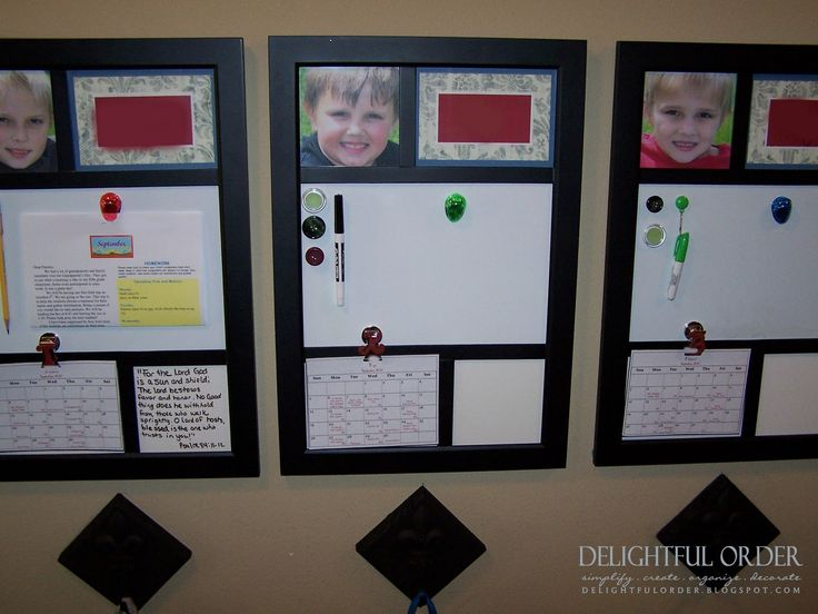 Delightful Order: Homework Bulletin Board