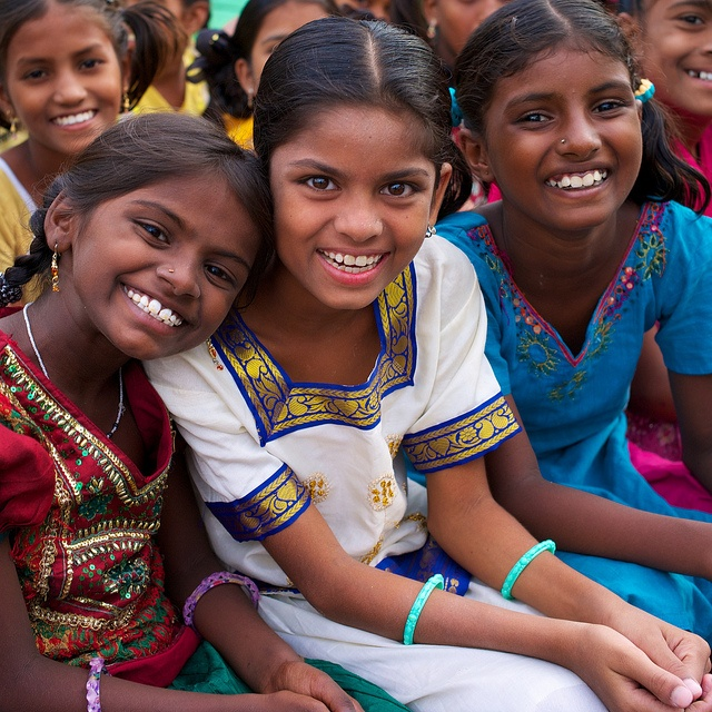 PHOTO OF THE DAY: India: Orphan girls once at high risk of human trafficking are now safe and happy at our girl's home, with its own accredited school on campus. || Take action: shop Amazon through our link, 7% of purchase goes to our programs: http://amazon.peacegospel.org || Raise Awareness: please like & repin!