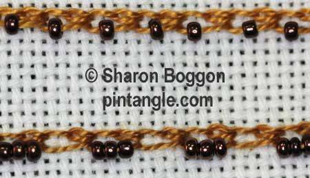 Beaded Shell Chain Stitch 4, via Pintangle.com