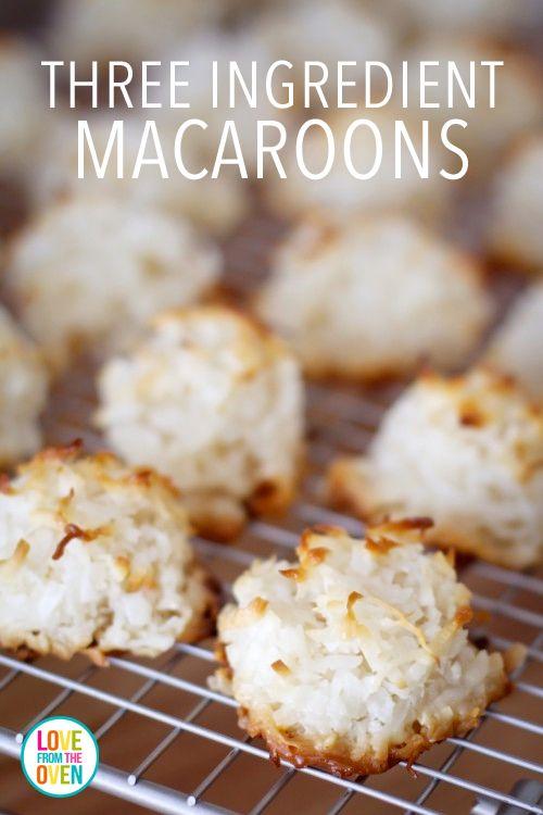 Easy Three Ingredient Macaroons