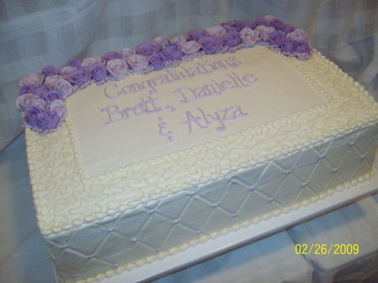 Wedding Sheet Cake 12x18x4 Sheet Cake Done For A Small