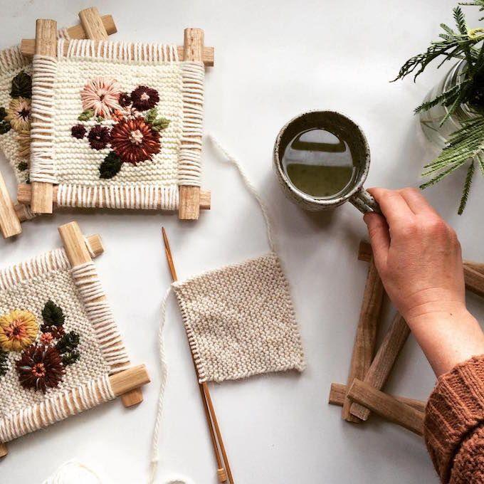 Fleur Lyon calls her textile pieces